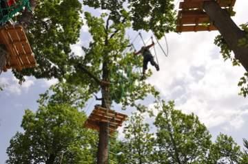 Un parcours dans les arbres pour sortir des activités terrestres à Casteljaloux